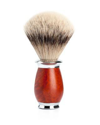 ESBJERG-MÜHLE-Shaving-brush-silvertip-badger-handle-material-briar-wood