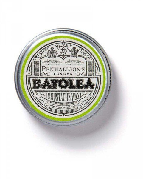 penhaligons london bayolea moustache wax container