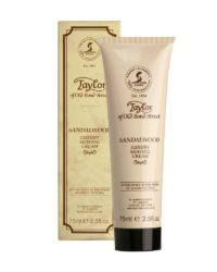 taylor sandalwood shaving cream tube