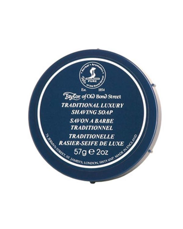 taylor of old bond street london traditional luxury shaving soap 57g container