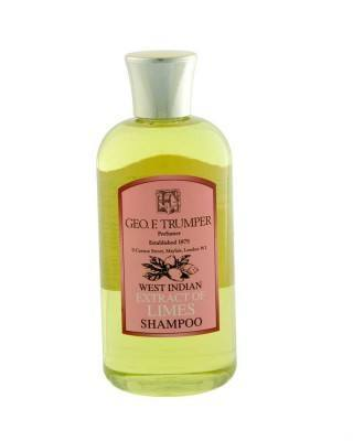 george f. trumper london west indian extract of limes shampoo bottle
