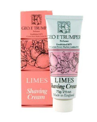 eorge f. trumper london west indian extract of limes shaving cream tube