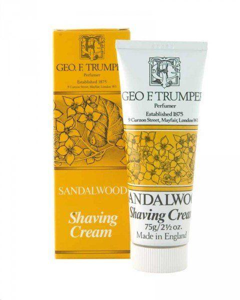 george f. trump london sandalwood shaving cream 75g tube