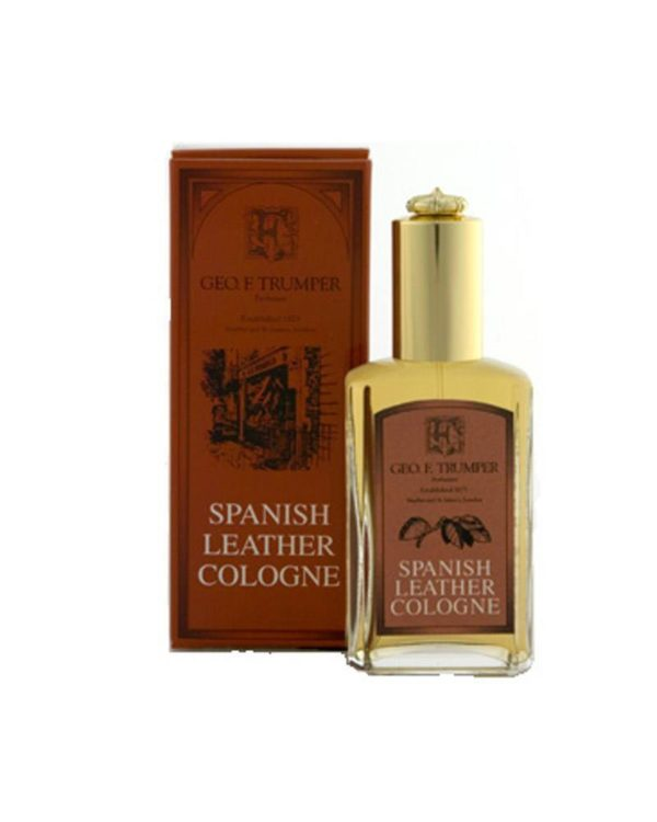 george f. trumper london spanish leather cologne bottle