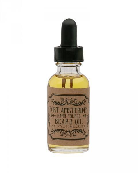 fort amsterdam beard oil bottle cedarwood