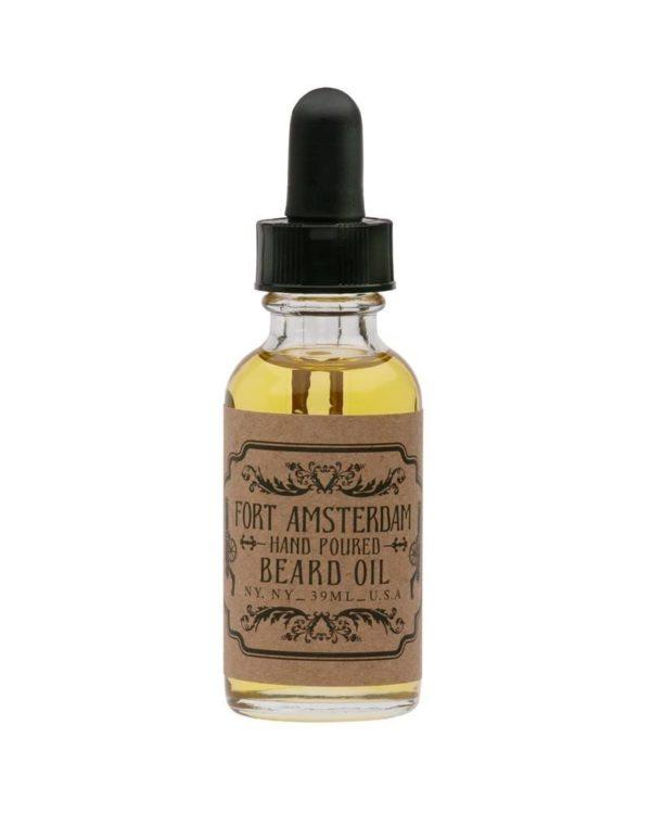 fort amsterdam beard oil bottle cedarwood