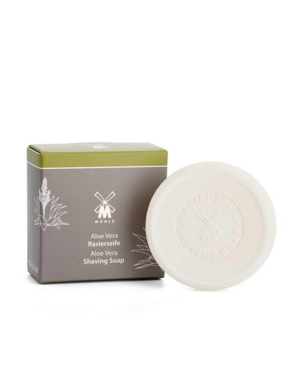 muehle aloe vera sandalwood shaving soap piece box