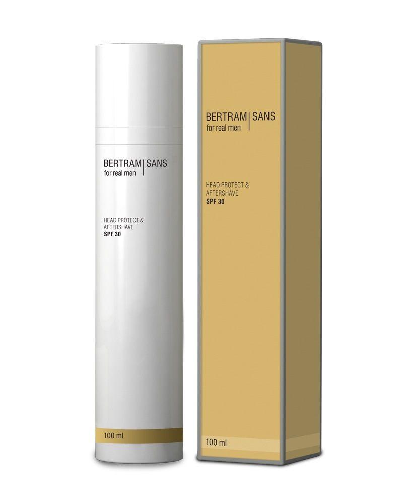 bertram sans kopfschutz & aftershave 100ml flasche schachtel