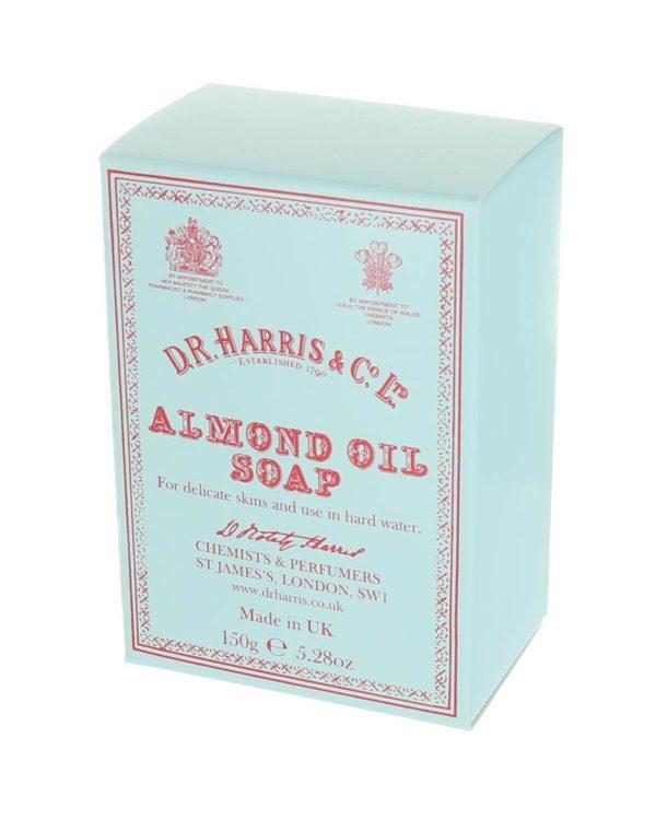 d.r. harris london almond oil soap 150g box