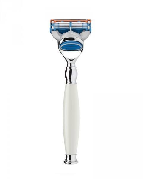 muehle safety razor white handle