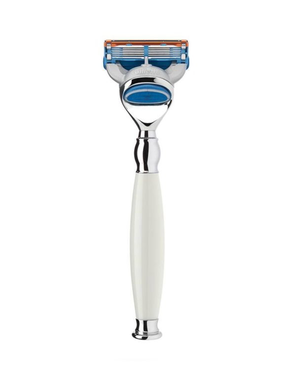muehle safety razor white handle