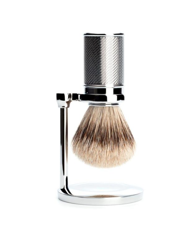 muehle stand for classic shaving brushes chrome plated