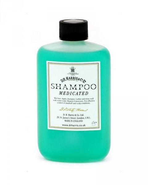 d.r. harris london medicated shampoo bottle