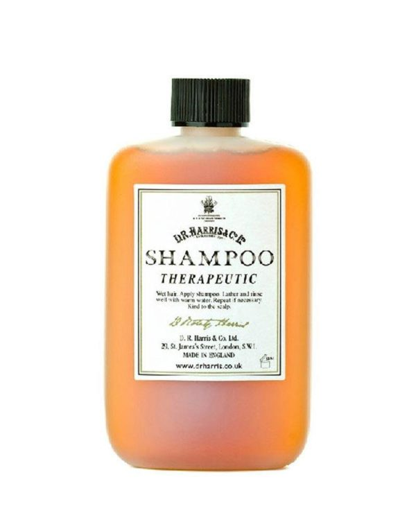 d.r. harris london therapeutic shampoo bottle