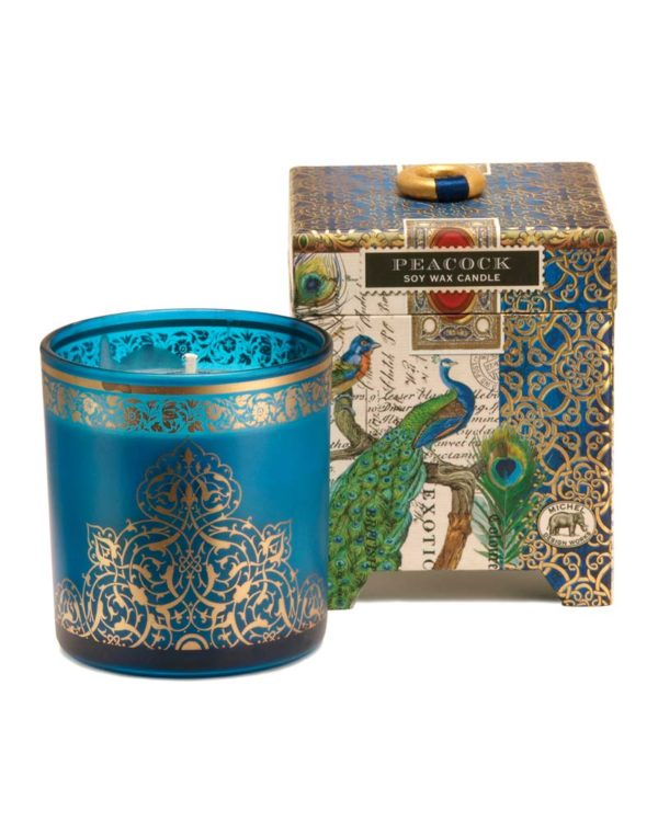 michel design works peacock soy wax candle