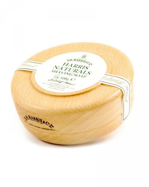 d.r. harris london naturals shaving soap 100g wooden bowl