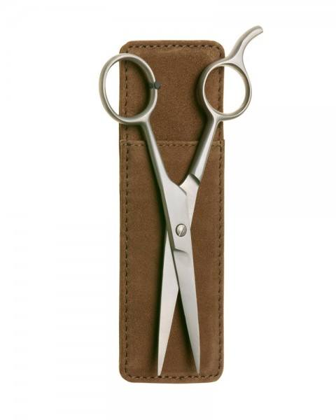 beard scissors pouch brown