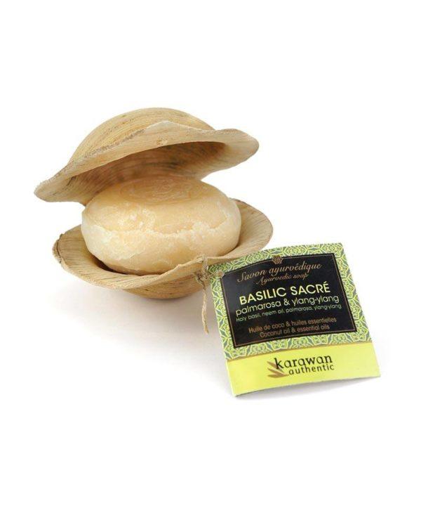 karawan authentic ayurvedic soap basil