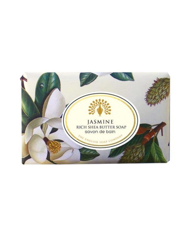 the english soap company jasmine rich shea butter soap