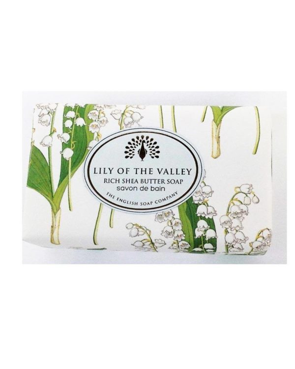 the english soap company lily of the valley bath soap