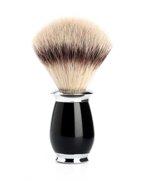 muehle shaving brush black chrome plated