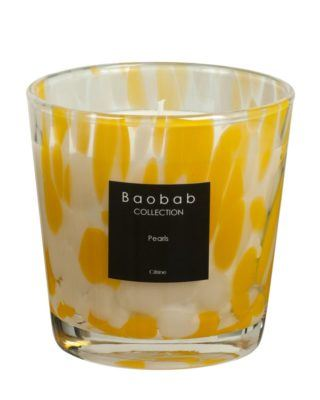 baobab collection pearls citrine candle yellow