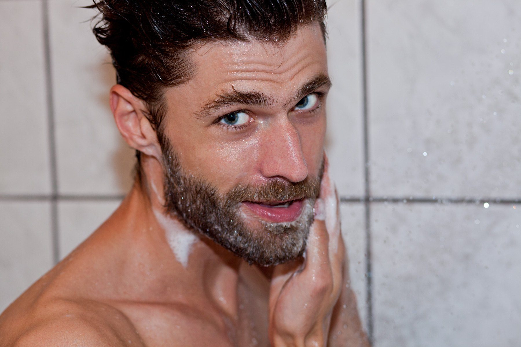 scrub beard and mustache