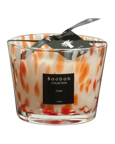 baobab collection pearls coral candle