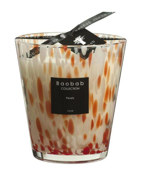 baobab collection coral pearls candle