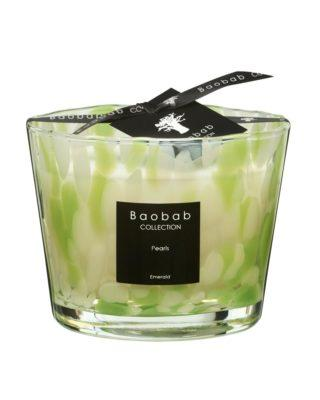 baobab collection emerald pearls candle