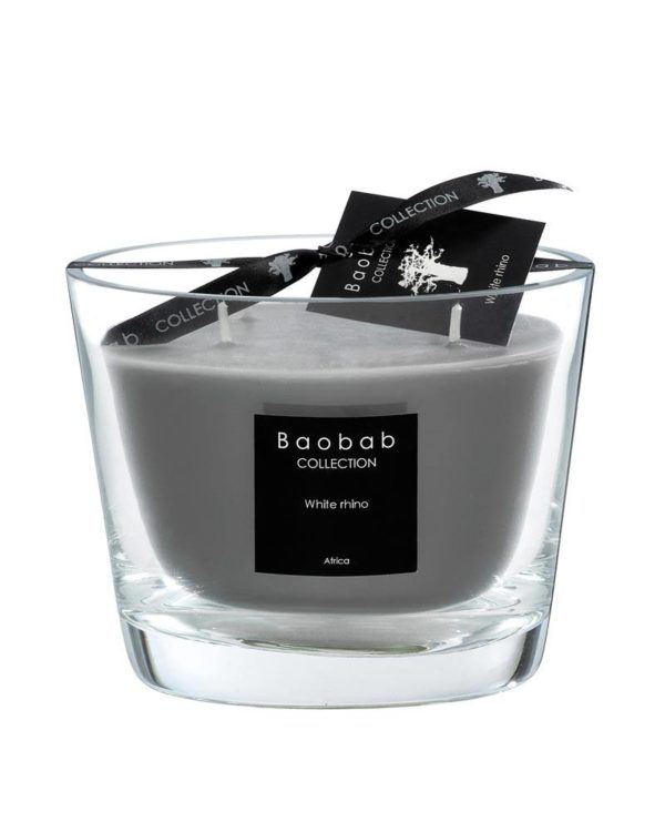 baobab collection white rhino candle