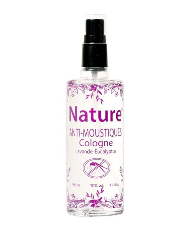 nature anti-moustique cologne lavender eucalyptus anti-mosquitos 125ml