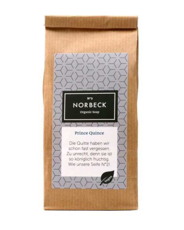 norbeck organic soap vegan prince quince