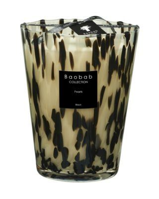 baobab kollektion pearls black kerze