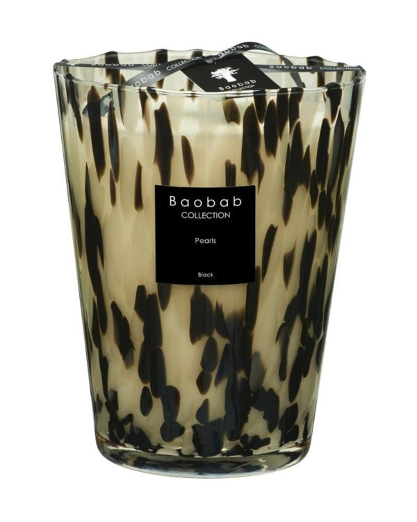 baobab collection pearls black candle