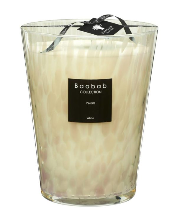 baobab collection white pearls candle