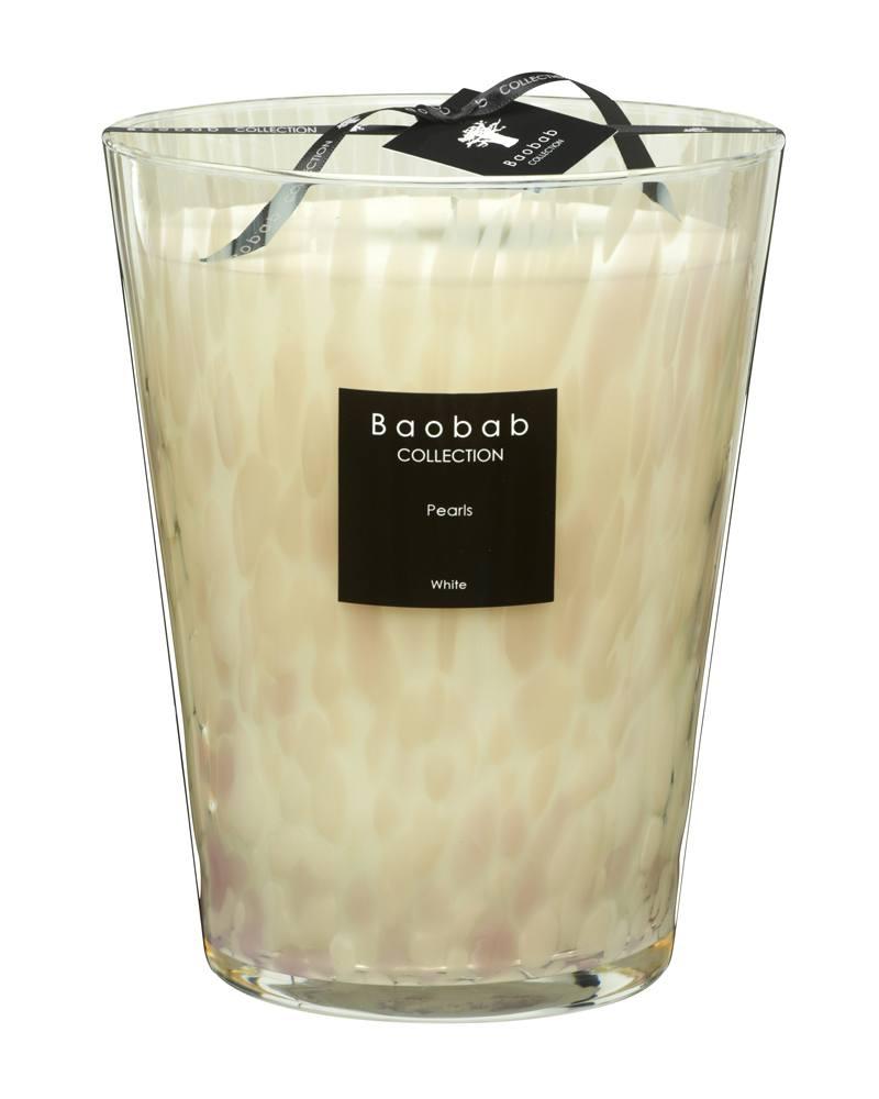 baobab kollektion white pearls kerze