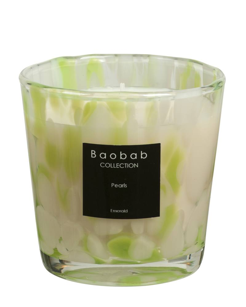 Baobab Collection Emerald Pearls Candle Maxone Esbjerg