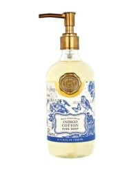 michel design works indigo cotton dish soap bottle 530ml
