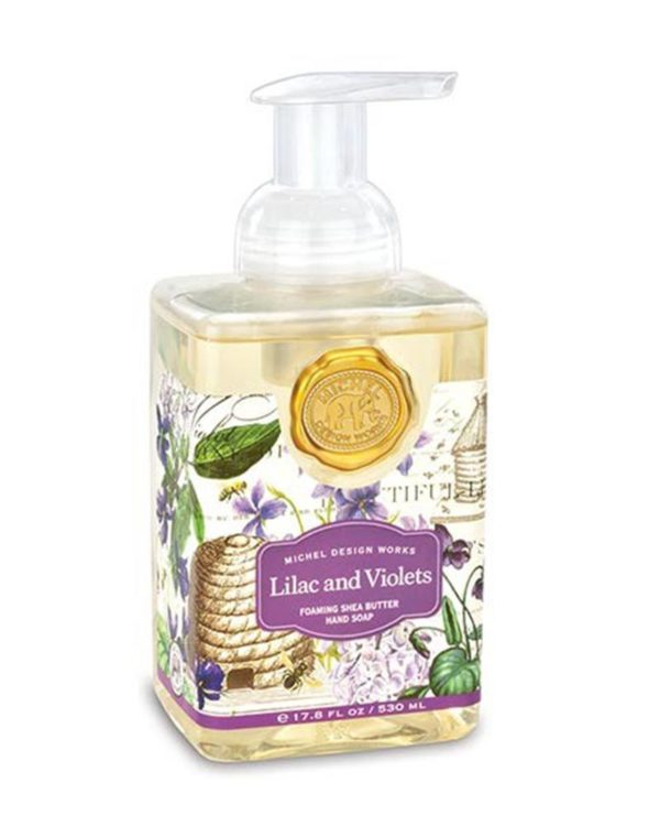 michel design works lilac and violets hand soap bottle