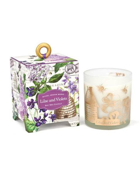 michel design works lilac and violets soy wax candle