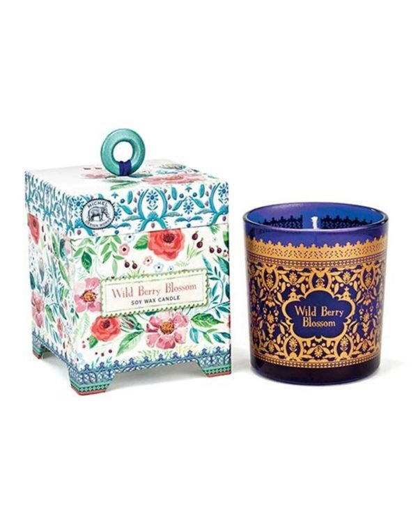 michel design works wild berry blossom soy wax candle