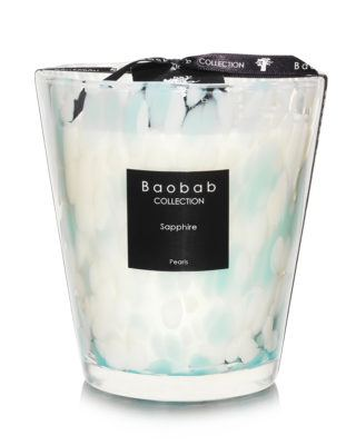 baobab pearls saphire candle