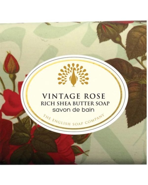 the english soap company vintage rose savon de bain rich shea butter soap