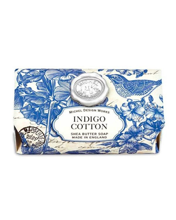 esbjerg michel design works indigo cotton bath soap