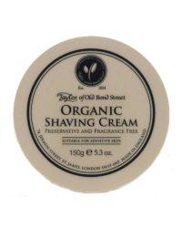 taylor organic shaving cream