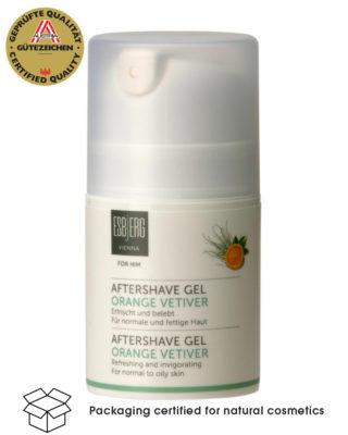 esbjerg wien aftershave gel orange vetiver pumpflasche