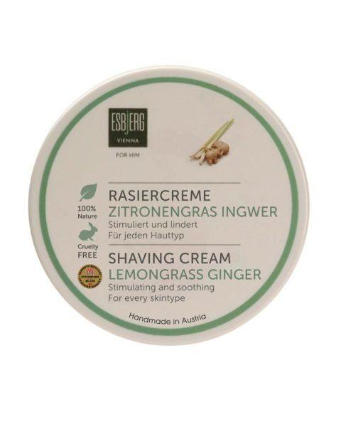 esbjerg shaving cream lemongrass ginger