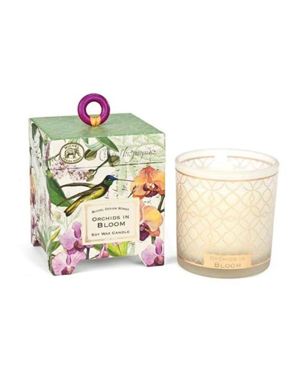michel design works orchids in bloom candel