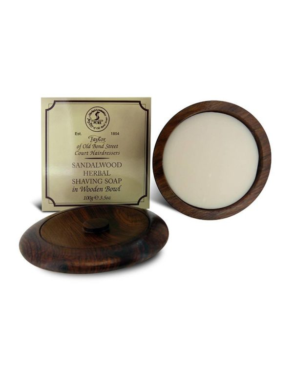 Taylor of Old Bond Street - Sandalwood Shaving Soap in Wooden Bowl
